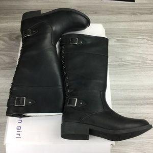 Madden Girl Black Roma Riding Boots